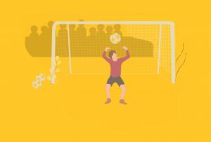 teen playing soccer