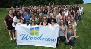 group picture of the woodview staff outside