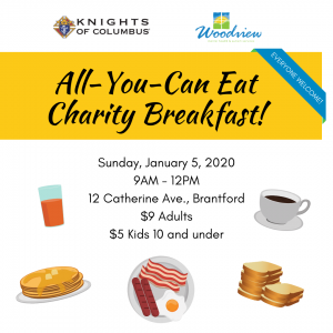 charity breakfast promotional graphic