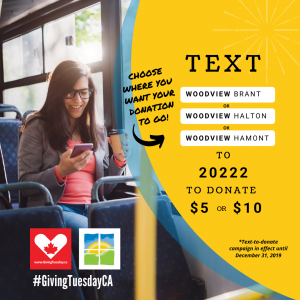 text-to-donate promotional graphic