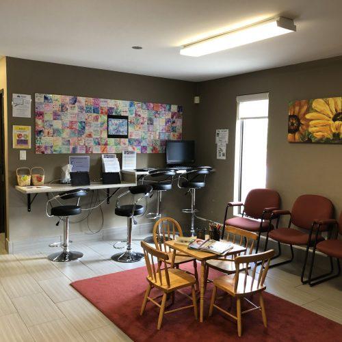 Reception area at Brantford main office