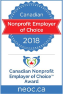 non profit employer of choice award 2018 banner