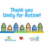 Unity for Autism thank you graphic