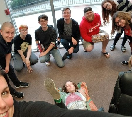 youth group selfie