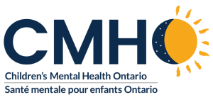 childrens mental health ontario logo, with a partial sun and the night sky