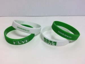 wristband with 1 in 5 logo