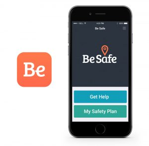 Be Safe app logo on mobile screen