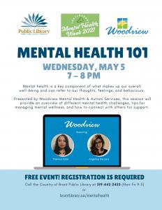 Mental Health 101 Event Flyer