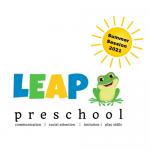 LEAP program logo with sun
